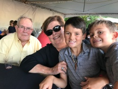 Family time at Jazz in the Woods in Overland Park, KS