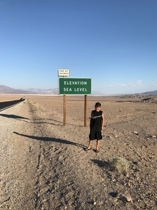 Sea level in the desert.